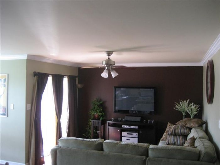 Pin By Bonnie Eaton On Things I D Like To Do At Our Home Accent Walls In Living Room Brown Living Room Living Room Colors