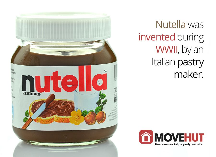 Nutella was invented during WWII, by an Italian pastry maker.