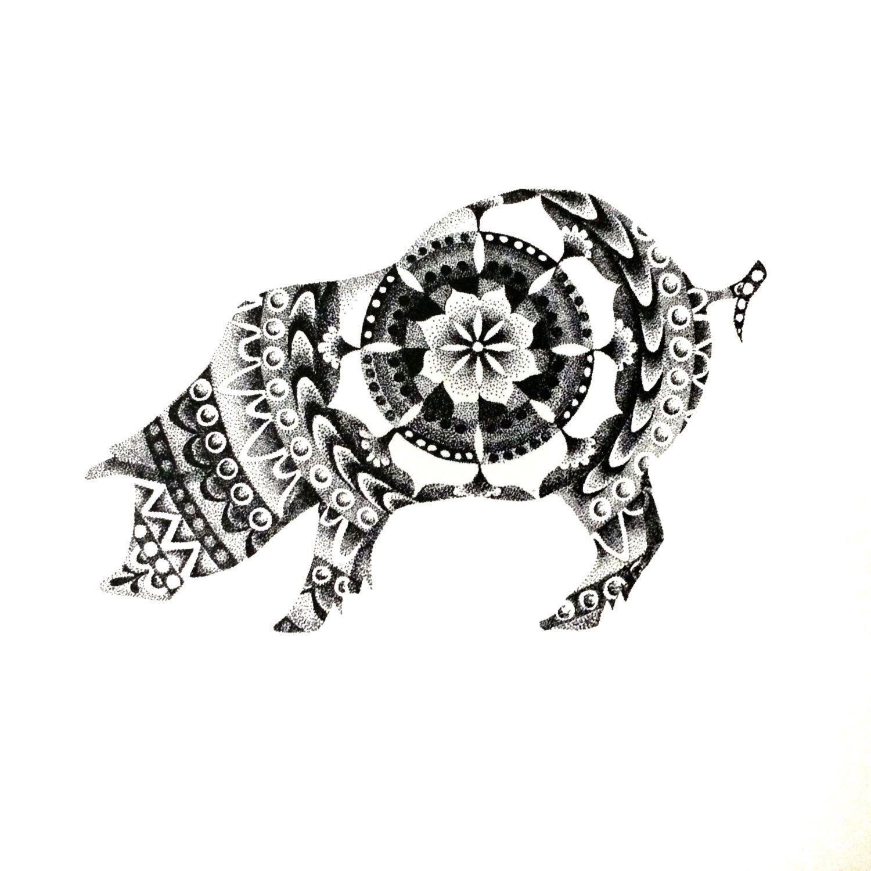 Pointillism By Studioamylynn 262582277 Pointillism Pig