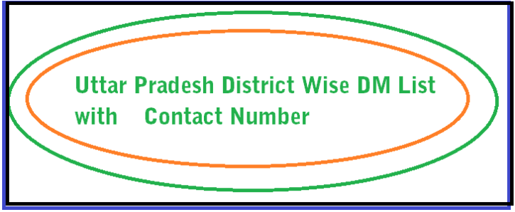 up-dm-district-wise-list | Notification | Numbers, Diagram