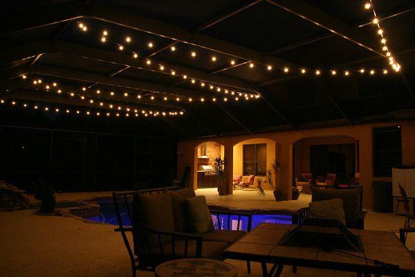 Pool Deck Patio Lighting Photos Tampalights Lanai Lighting Lanai Decorating Pool Remodel