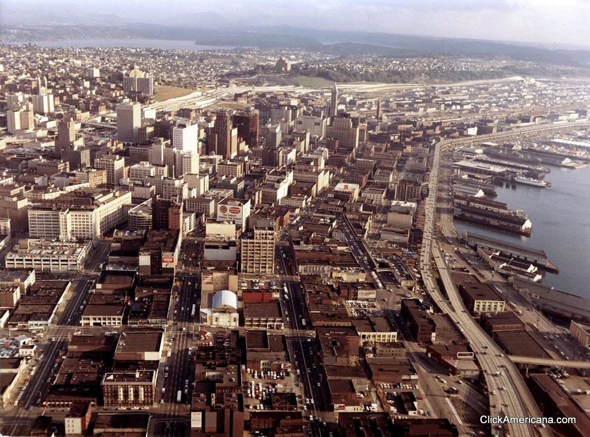 Seattle in 1967 Two old aerial views