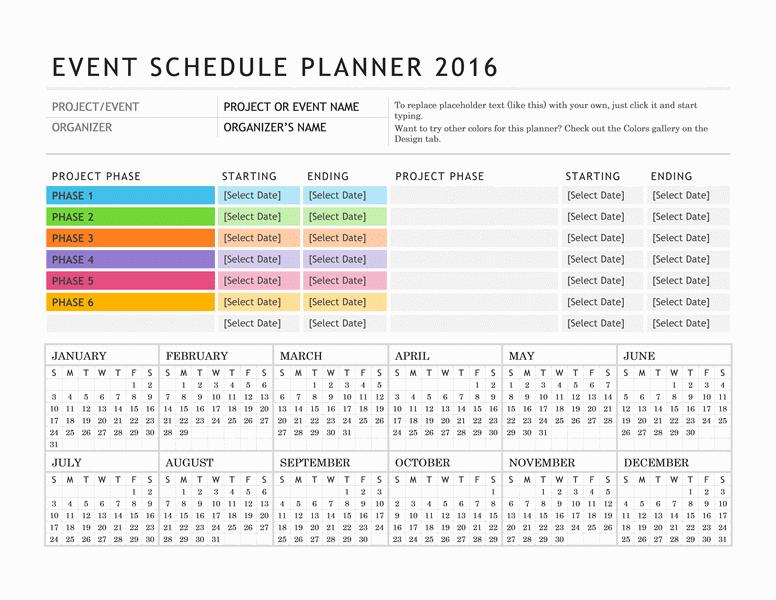 Get Organized With These Free Online Calendars Event Calendar Template Event Planning Calendar Schedule Planner