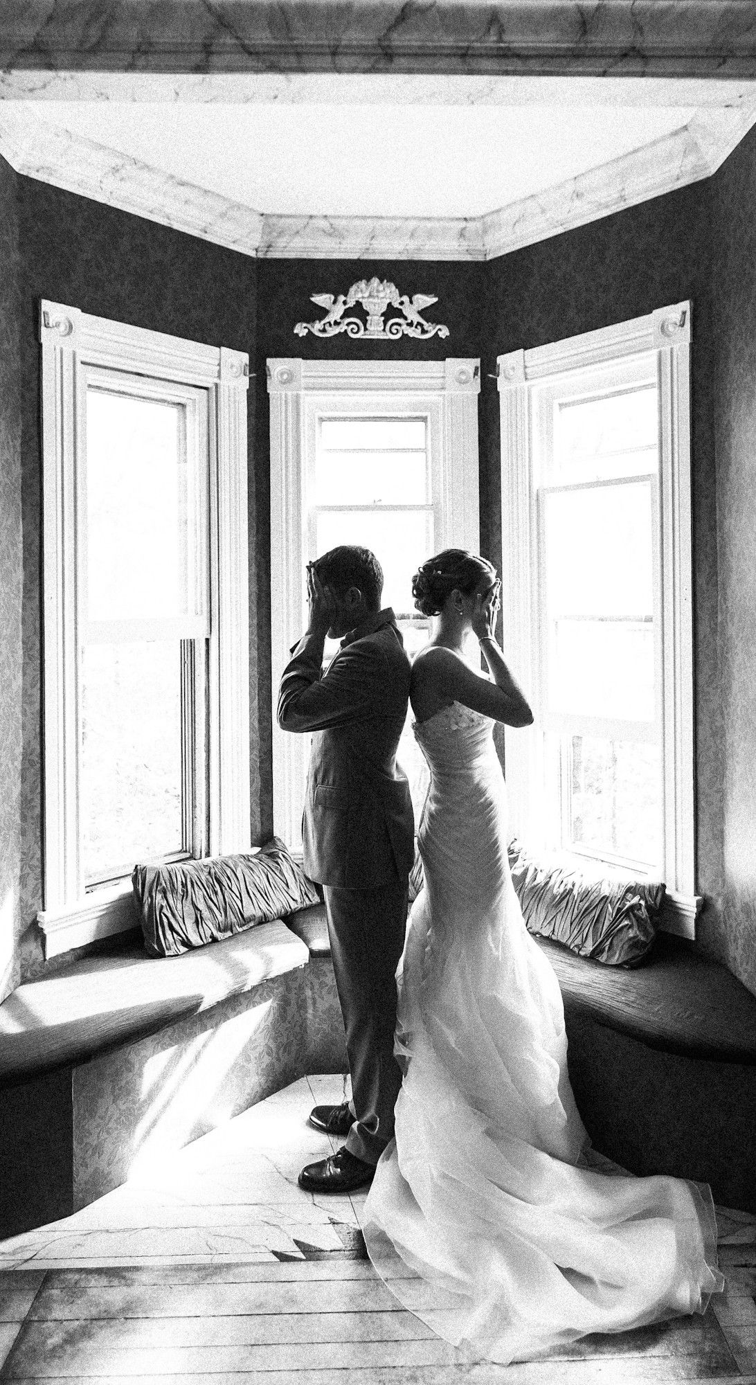 Wedding photographs - with a difference. cant see the bride before the wedding
