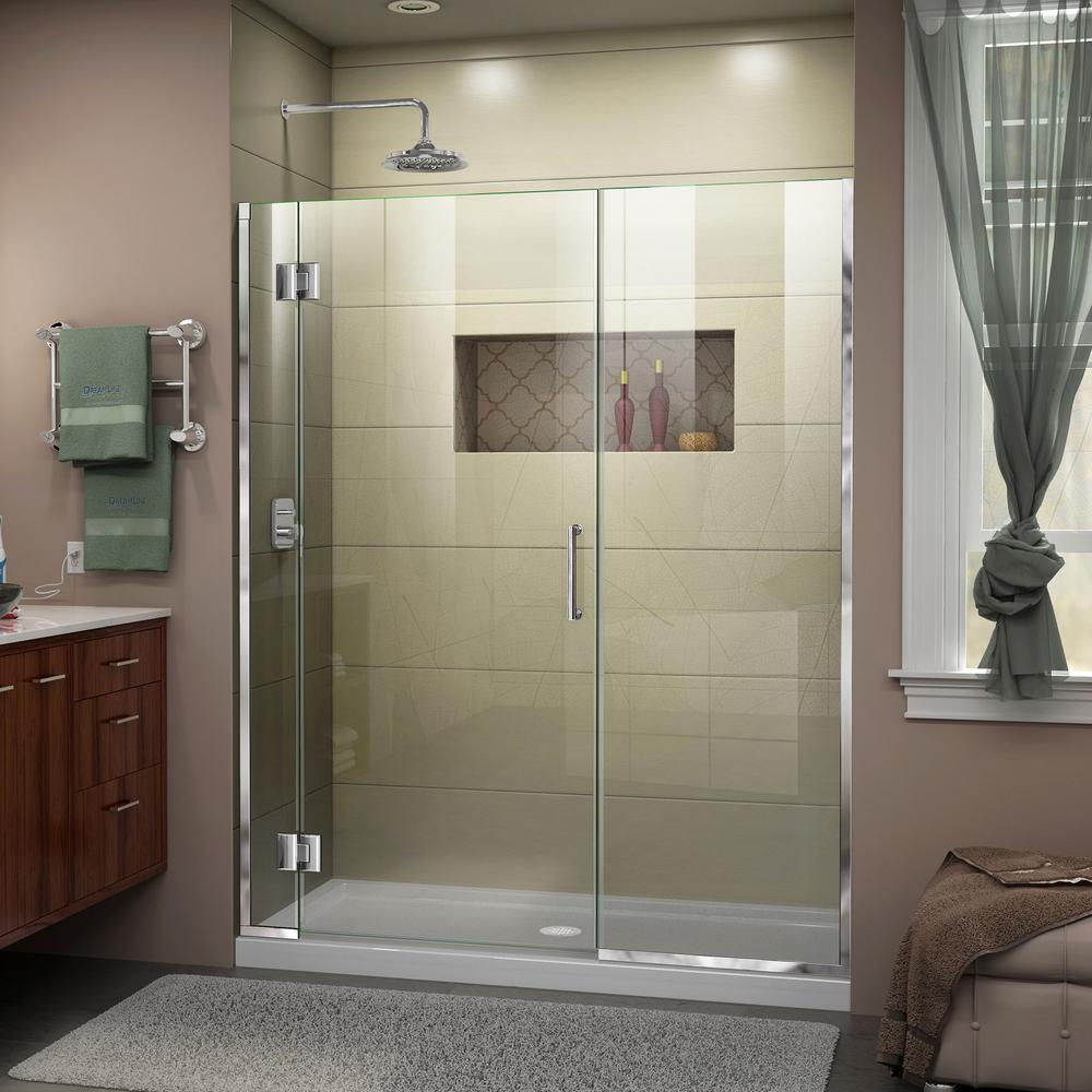 Dreamline Unidoor X 47 5 To 48 In X 72 In Frameless Hinged