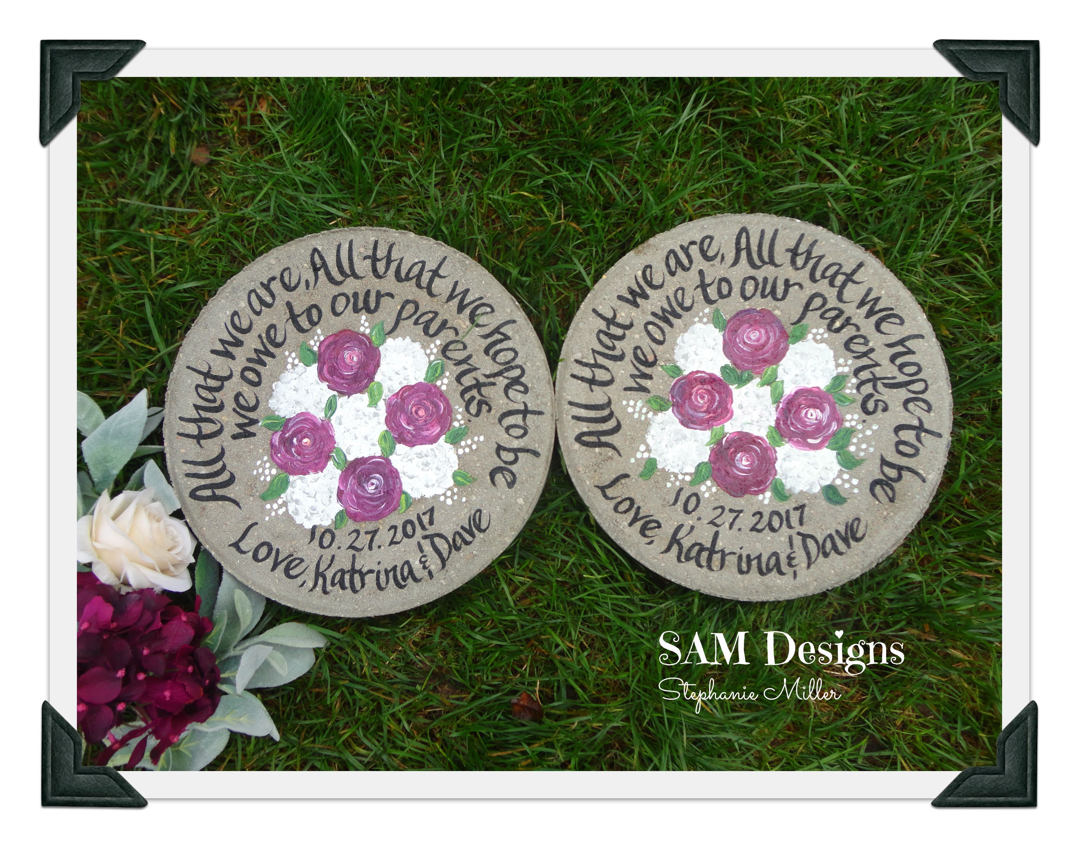 This beautiful peony garden stone will make the perfect and unique this beautiful peony garden stone will make the perfect and unique gift for the mother of the bride groom personalize with your wedding flowers and at izmirmasajfo