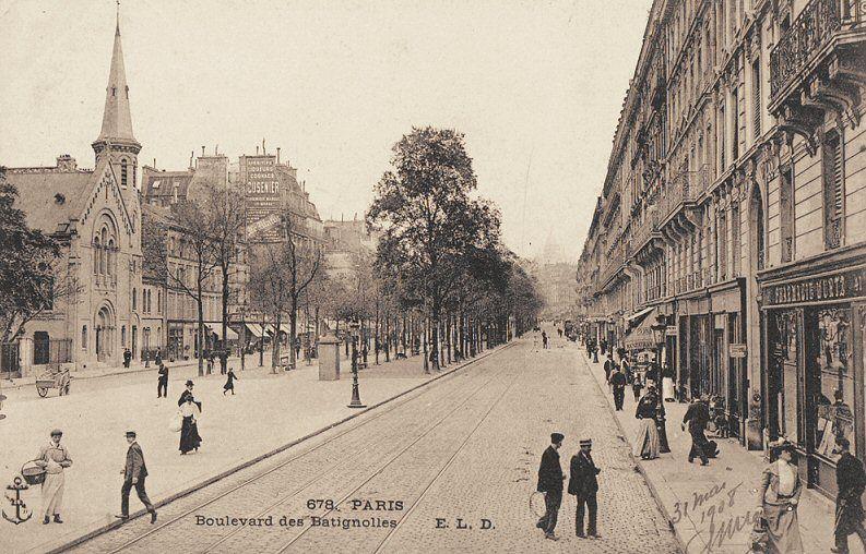 le boulevard des batignolles vers 1900 paris 8 me 17 me parisienne pinterest france. Black Bedroom Furniture Sets. Home Design Ideas