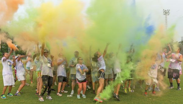 JP Cain Stadium has a successful fundraiser using colored cornstarch from Color My Party™.