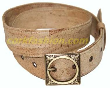 Cork Belt (model RC-GL0104001001) - Eco-friendly - made of real cork. From www.corkfashion.com