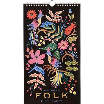 2016 Rifle Paper Co. Folk Calendar