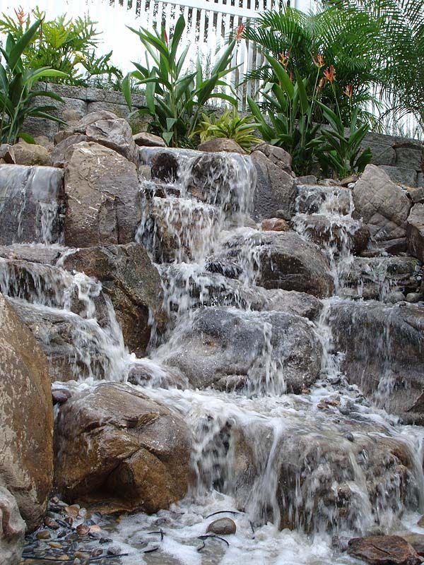 Pinspiration - 90 Stylish Backyard  Garden Waterfalls Cascadas - fuentes de cascada