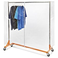 Vinyl Clothes Rack Cover 66 X 63 X 26 Clear S 17934 With