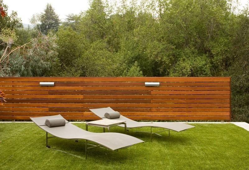 Garten Mauer Bauen Aus Holz Und Metall Sichtschutz Fr Garten Selber
