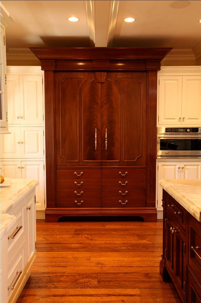 Kitchens With Wood Paneling: Kitchen Ideas.The Wood Is Honduran Mahogany, With The