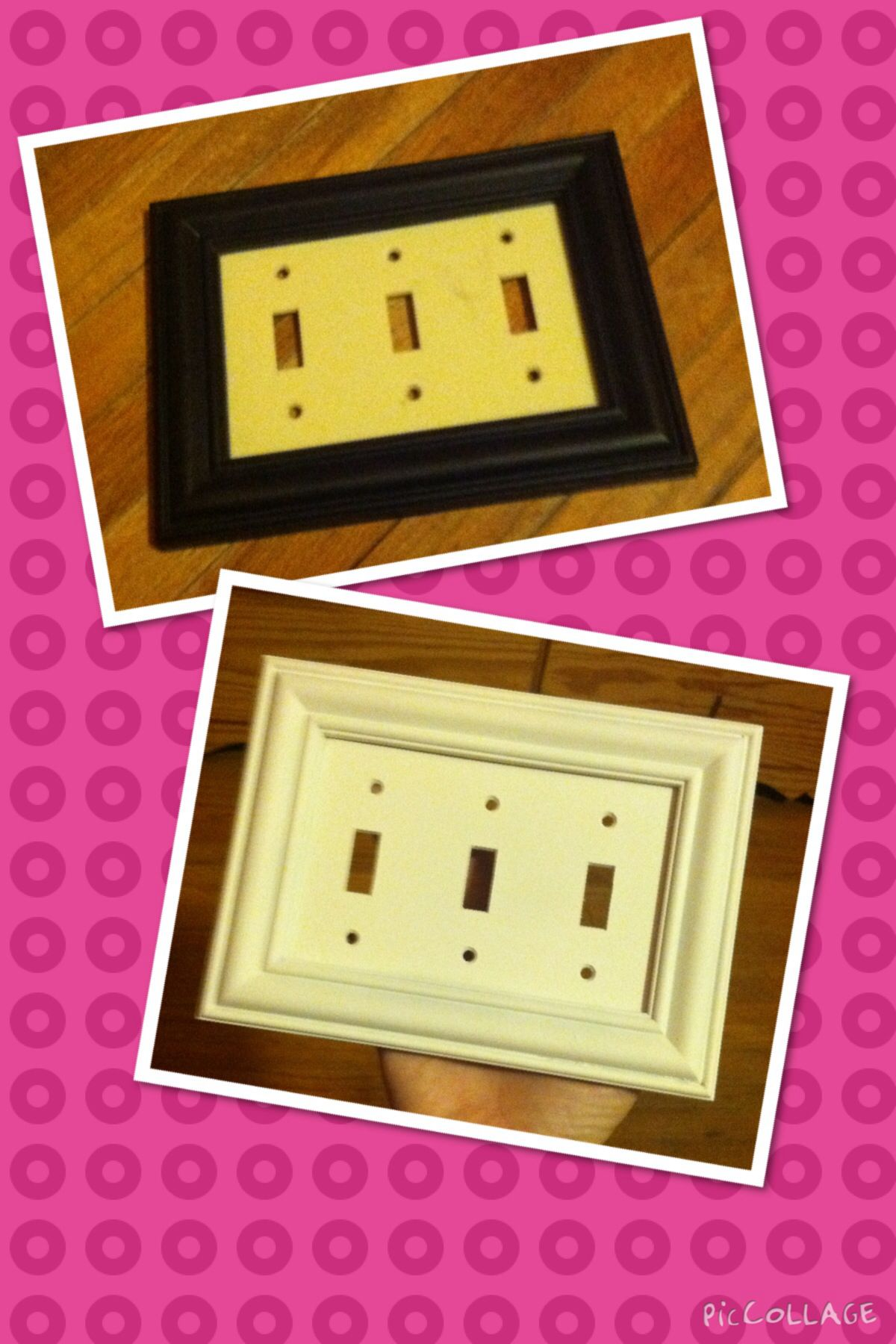 No Link...I took the old light switch plate off the wall and hot ...