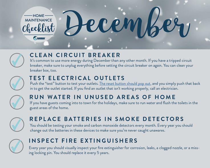 Photo of Dezember nach Hause Wartung. Diese Seite hat monatliche Aufgaben für innen und …