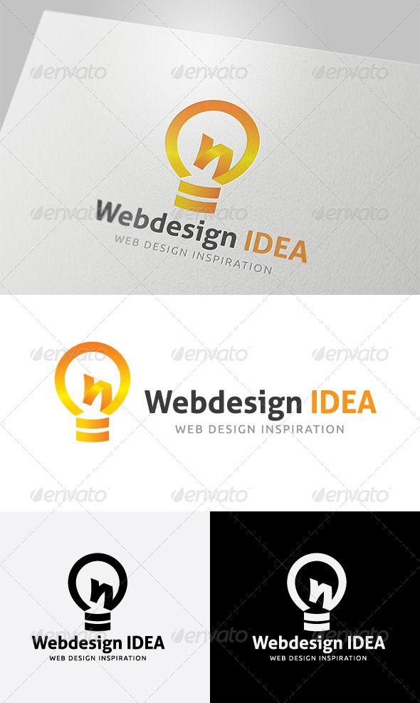 Web Design Idea   Logos, Logo design template and Logo design