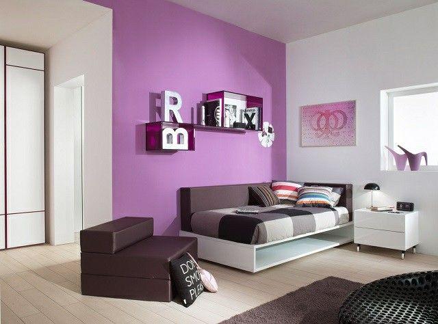 habitaciones juveniles moderno colores oscuros muebles