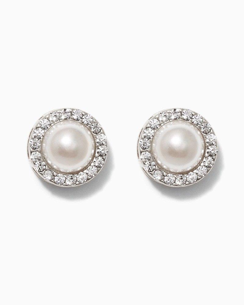 charming charlie Center Pearl Earrings UPC 410007066716