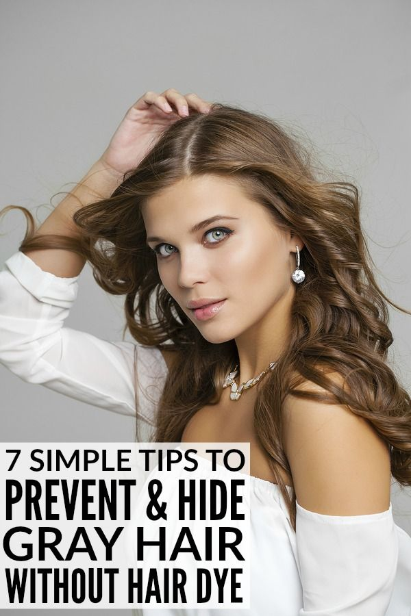 7 tips for preventing and hiding gray hair without permanent hair ...