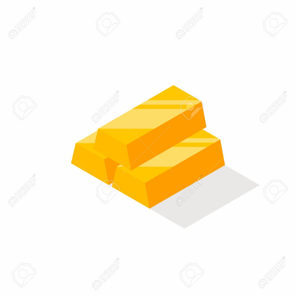 Gold Bars Pile Isometric Finance Business No Background Gold Bar Isometric Infographic Design Inspiration