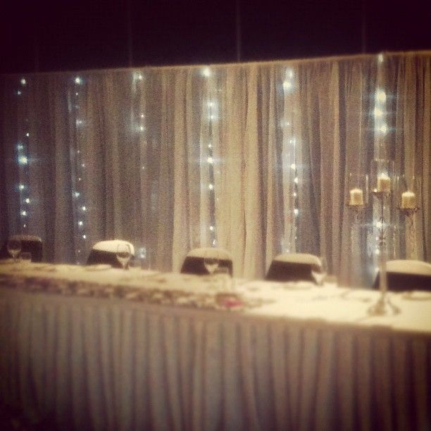 Our Bridal Table Backdrop Wedding Receptions By Budget