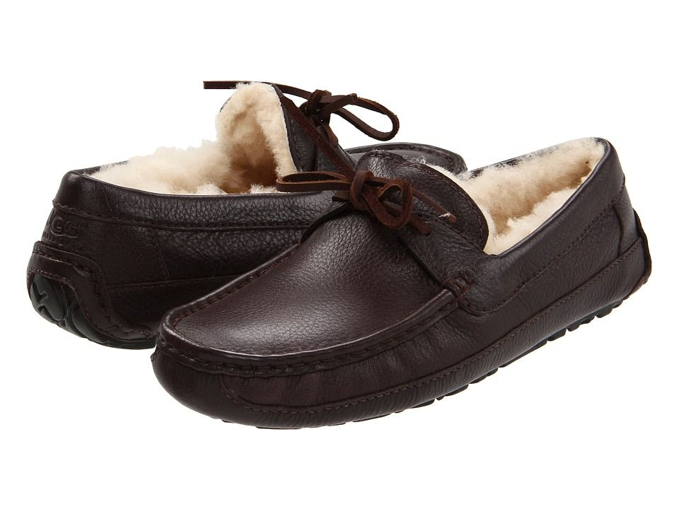 brand new 53362 1f852 UGG UGG - BYRON (CHOCOLATE LEATHER) MEN'S SLIPPERS. #ugg ...