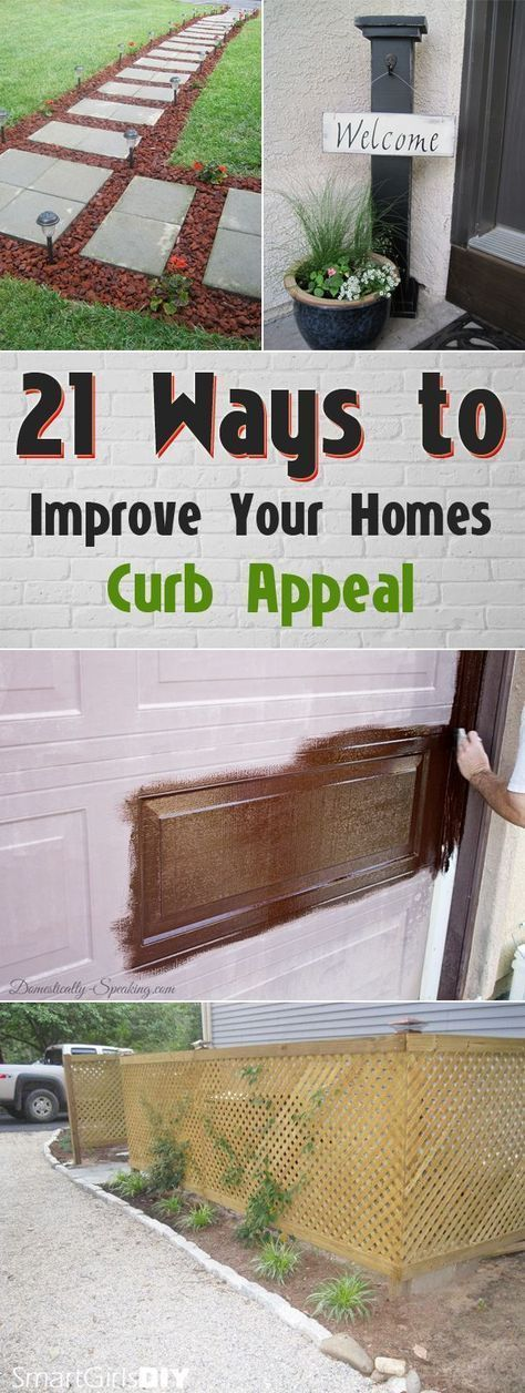 21 Ways to Improve Your Homes Curb Appeal #frontporchideascurbappeal