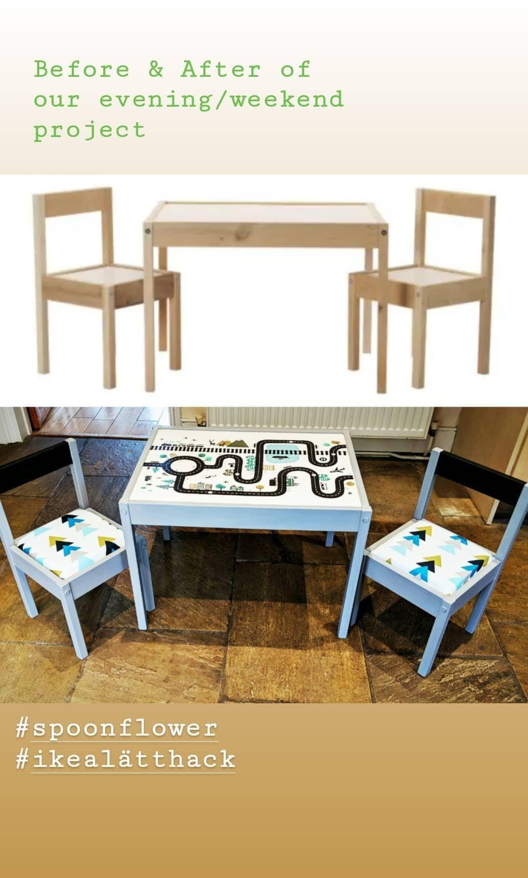 IKEA Lätt table and chairs hack Desk chair diy, Ikea
