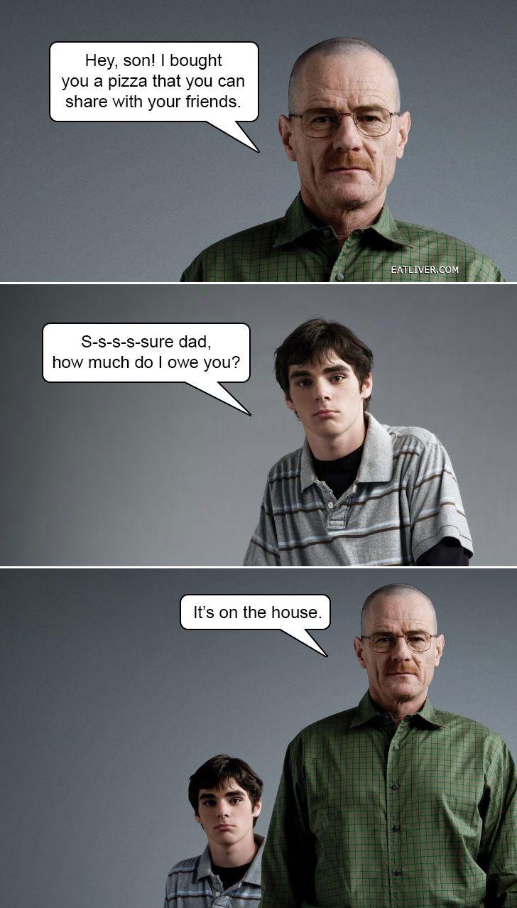7de2d5be0d2c6b15cf8b87b5225a22a6 if walter white told dad jokes dad jokes, dads and breaking bad