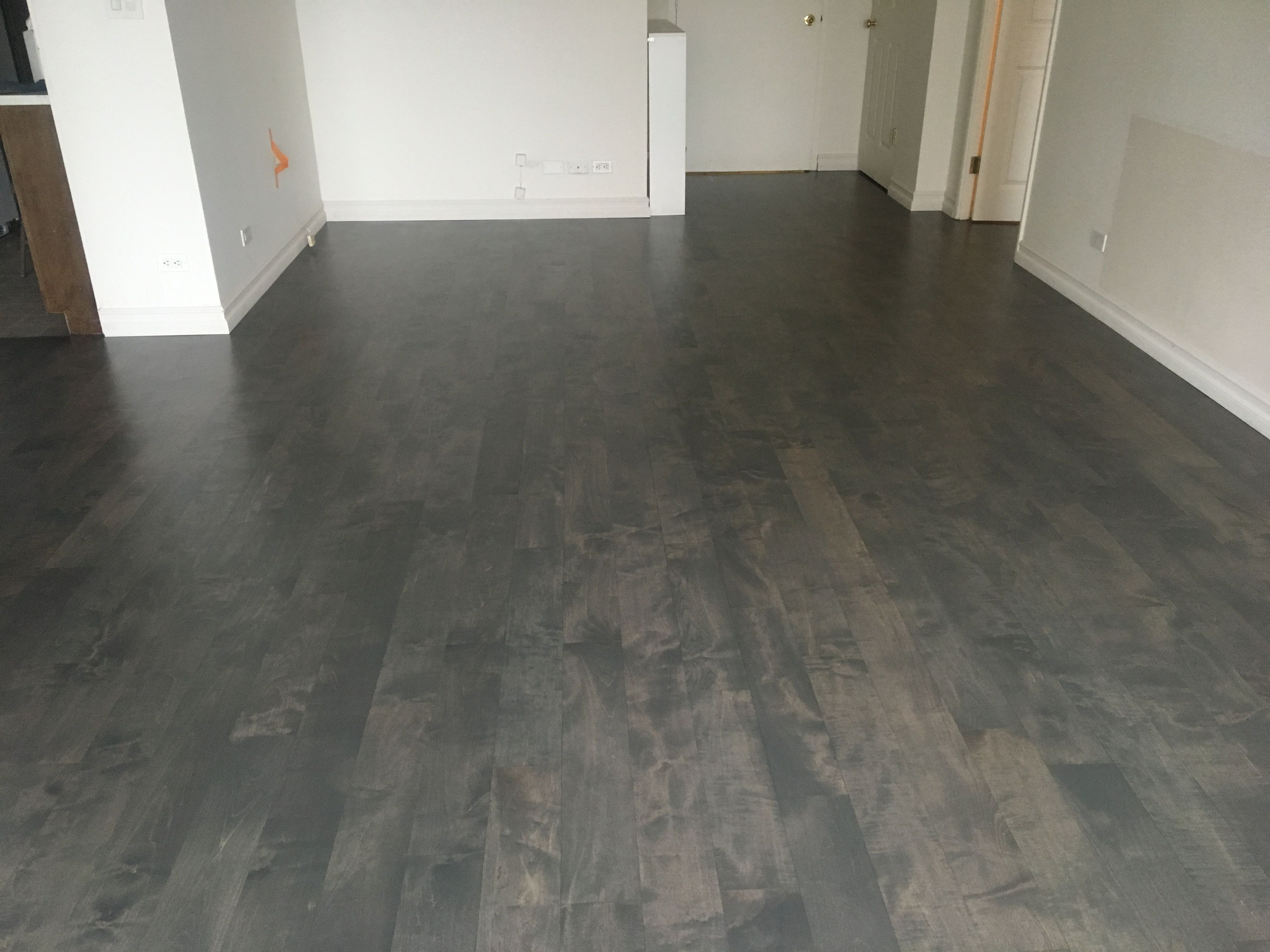 Pin By Glamour Flooring On Staining Natural Maple Floors Into A Gray Stained Maple Wood Floor Maple Floors Flooring Maple Wood