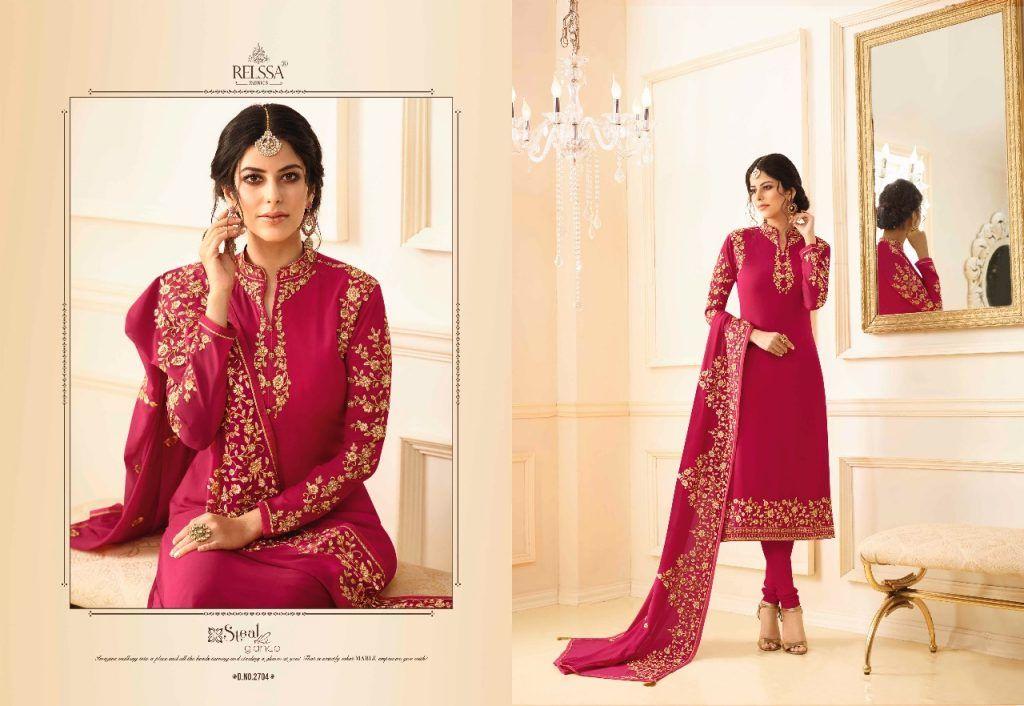 71ba95bffa relssa fabrics mable georgette embroidery salwar kameez catalog wholesale -  Krishna Creation