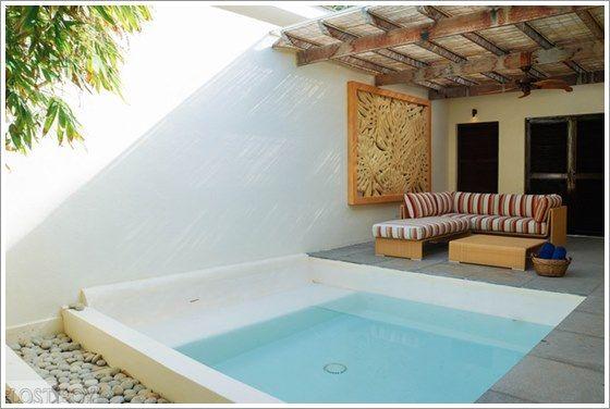 50 modelos piscina pequena para inspirar sua reforma ou constru o patios jacuzzi and garden - Modelos de piscinas pequenas ...