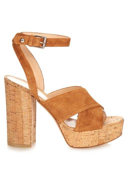 6871ae68207 Gianvito Rossi Suzie suede platform sandals