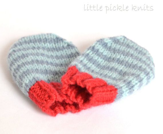 Simple Baby Mittens Knitting Pattern 4ply By Littlepickleknits