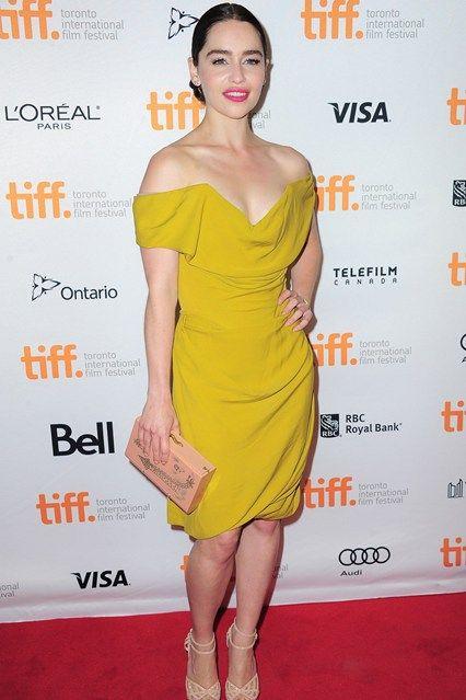 Emilia Clarke in Vivienne Westwood.