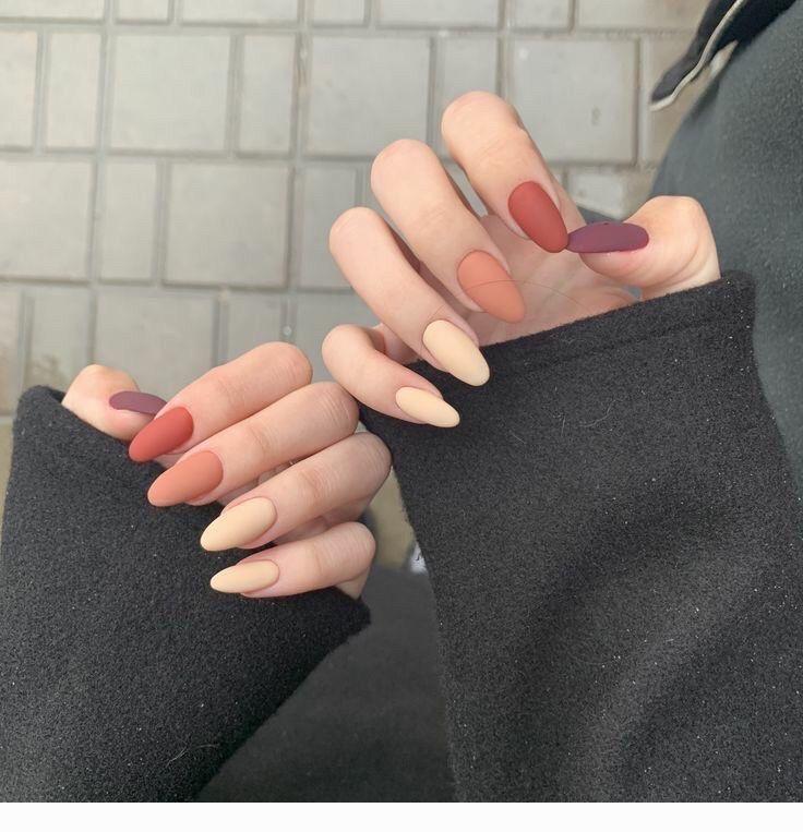 Matte Nails Different Colors Coolladies Net In 2020 Short Acrylic Nails Plain Nails Minimalist Nails