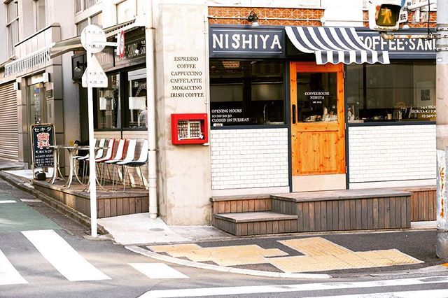 """171 Likes, 1 Comments - COFFEEHOUSE NISHIYA (@coffeehousenishiya) on Instagram: """"#coffeehousenishiya  #entrance  #コーヒーハウスニシヤ  #入り口テント張り替えました"""""""