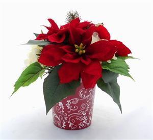 Cathyswraps Make Elegant Yet Affordable Holiday Decorations Christmas Flowers Poinsettia Table Decorations Christmas Centerpieces