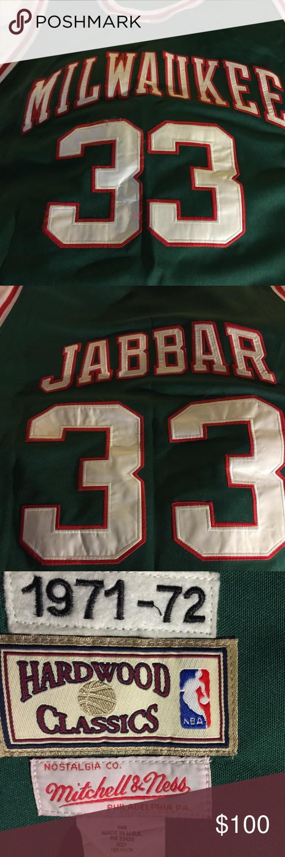 pretty nice 34a45 a3e61 Kareem Abdul-Jabbar Jersey 1971-72 Kareem Abdul-Jabbar ...