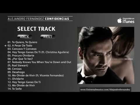 Alejandro Fernandez Confidencias Album Preview Youtube En 2020
