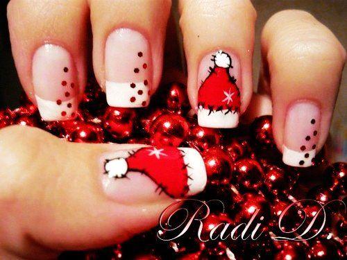 Unhas Natalinas Short Nails Nails 2015 And Makeup