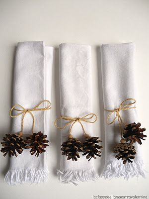Christmas Napkin Rings Pine Home For The Holidays Pinner