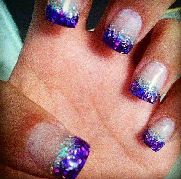 Purple Tips Nails