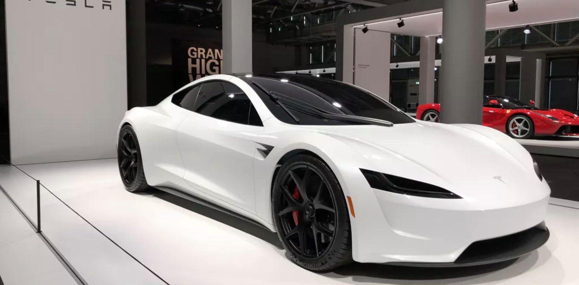 Tesla Roadster makes car show debut at Grand Basel Tesla