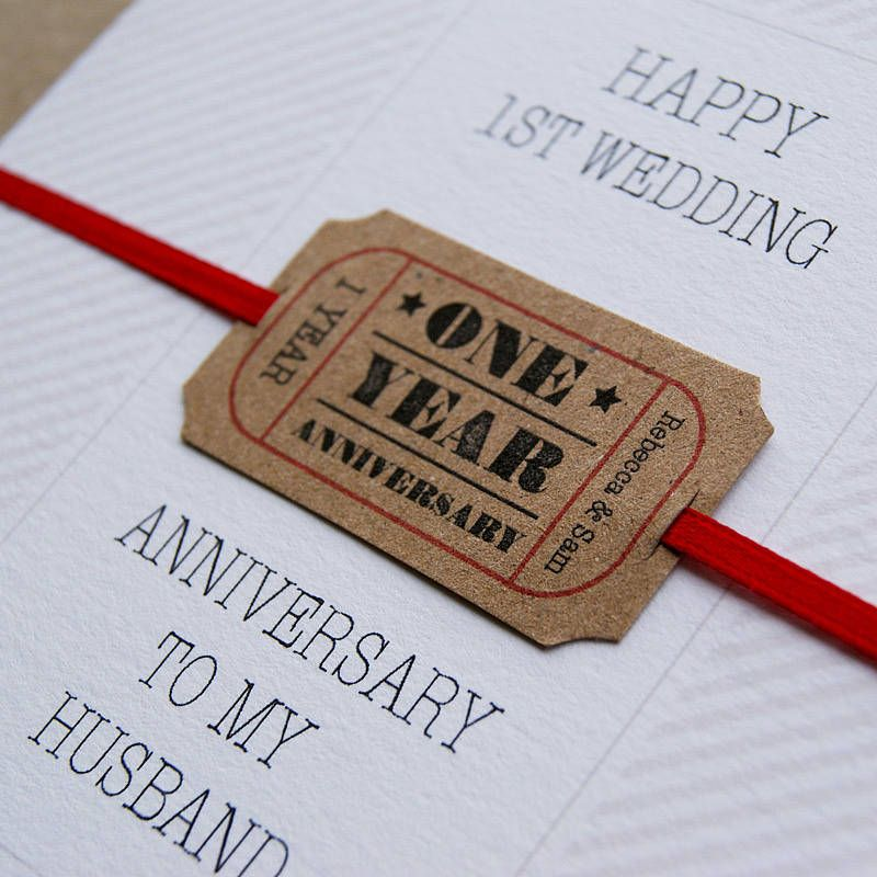 1st wedding anniversary cards for husband for First wedding anniversary gift for her