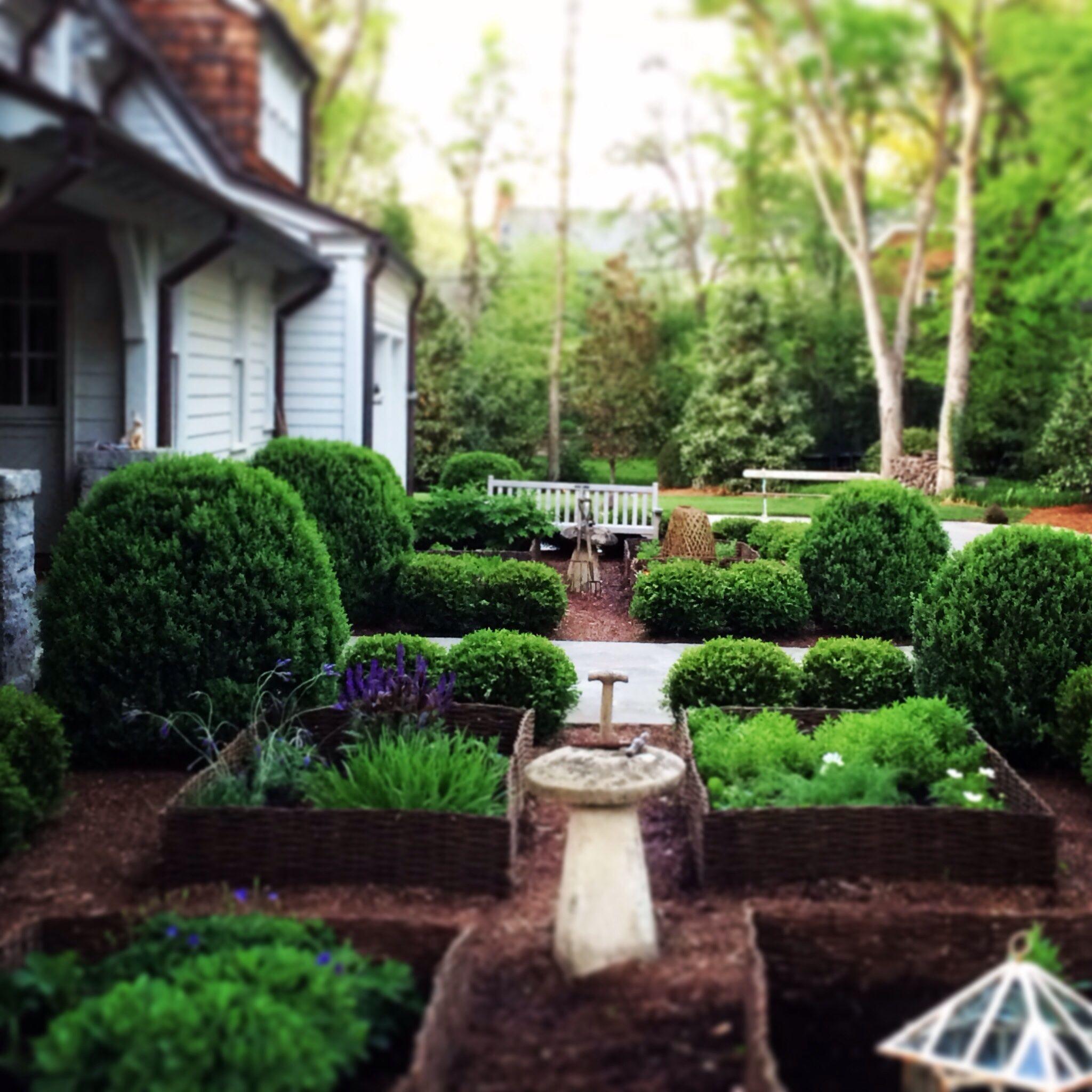 Finally Finished Replanting The Kitchen Garden. Wattle From Master Garden  Products. #unfortunatefarmerstan