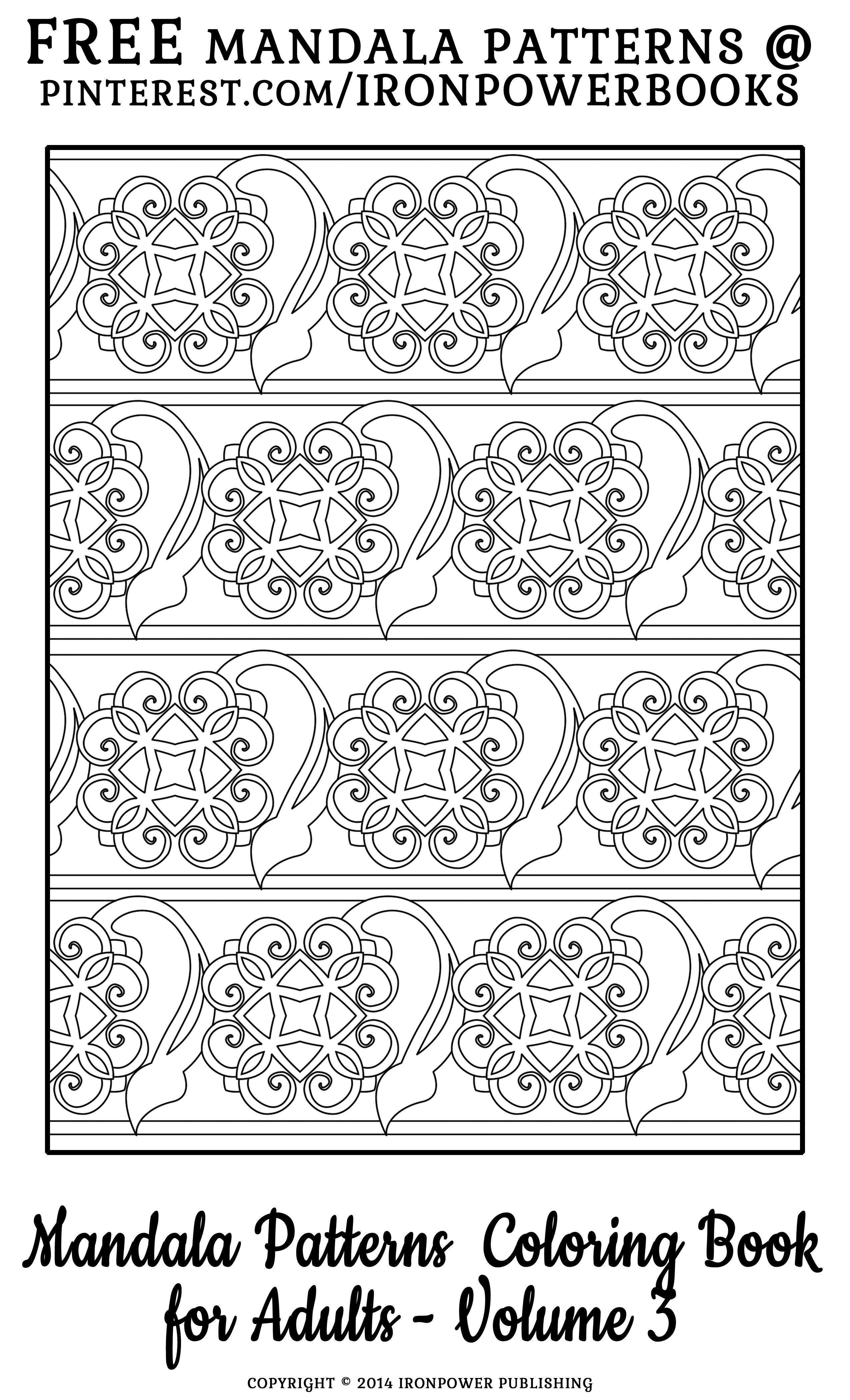 FREE Printable Pattern Coloring Page that can be use for Quilt ...