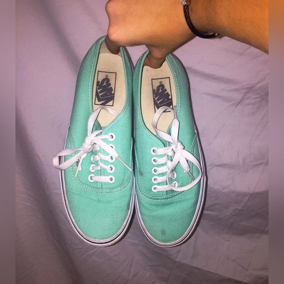 Vans Tiffany blue color, worn maybe twice, can be cleaned to perfection Vans Shoes Sneakers