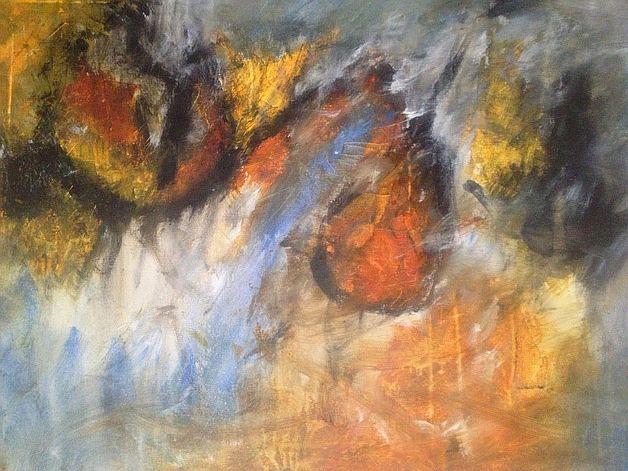 """Acrylbild """"Höhlenmalerei"""" - Größe: 60x80 cm - Copyright: Elfensteins"""